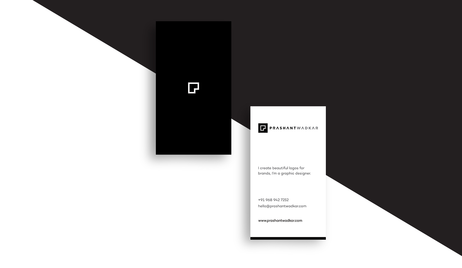 Business card of Prashant Wadkar